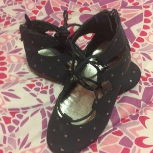 Other - Lace up ballet flat style shoe